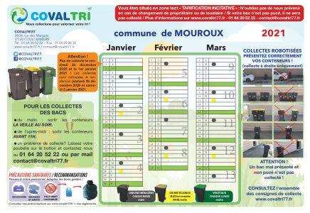 Calendrier 2021 collecte des déchets   Mouroux et ses hameaux