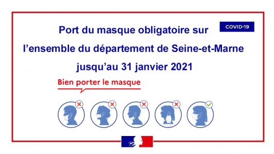 Port du masque obligatoire 31.01