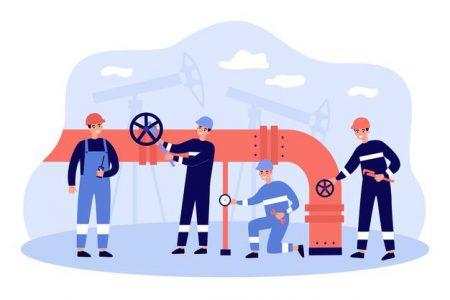 personnages-travailleurs-dessin-anime-pipeline-transportant-illustration-plate-petrole-gaz_179970-4311